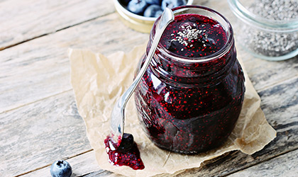 Blueberry And Chia Seed Jam