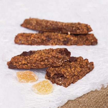 Ginger and Chocolate Protein Bars
