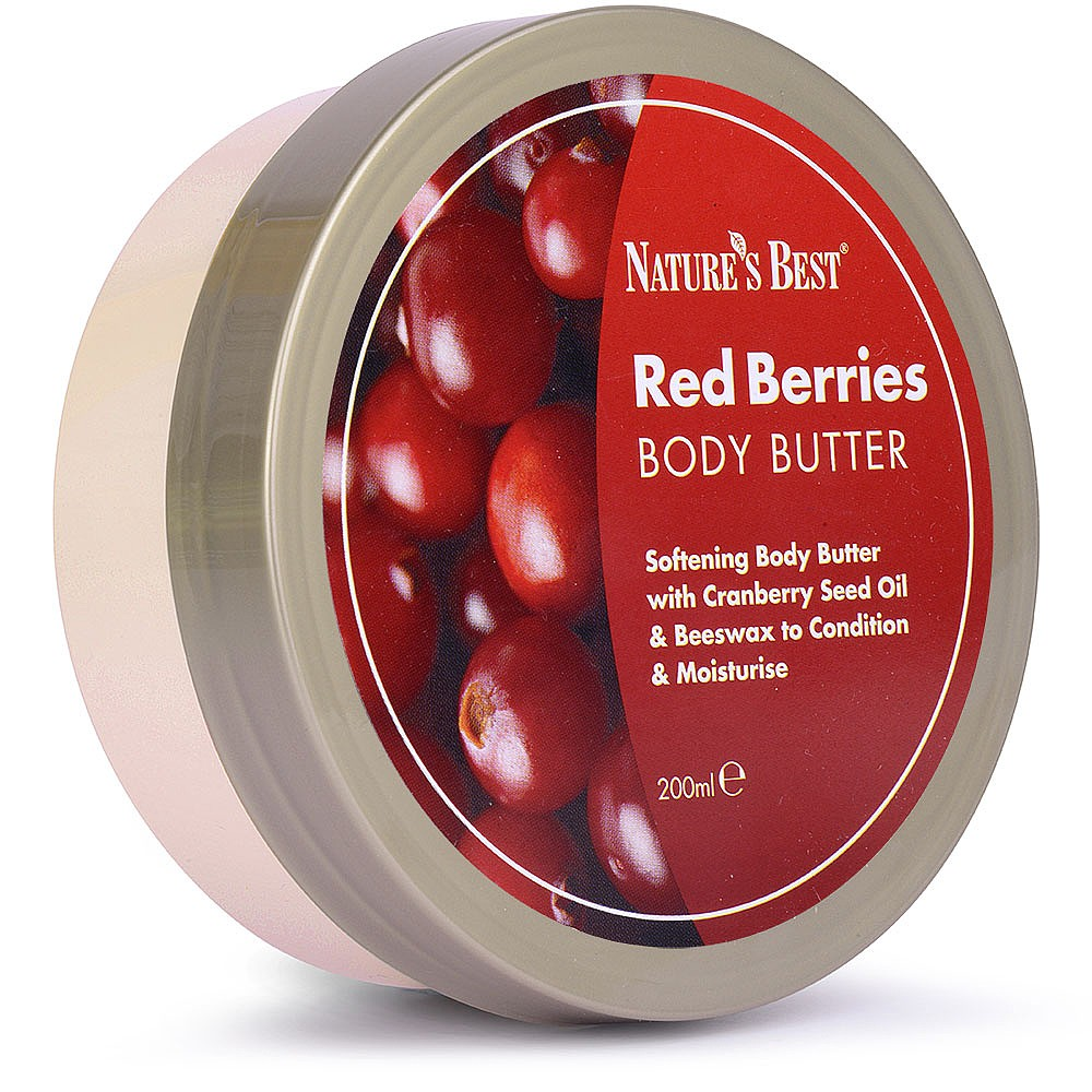 Red Berries Body Butter Cranberry Seed Oil Nature S Best