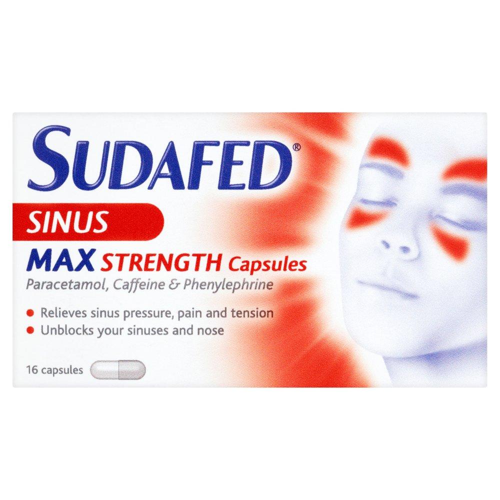 Sudafed Blocked Nose Amp Sinus Capsules Nature S Best Pharmacy