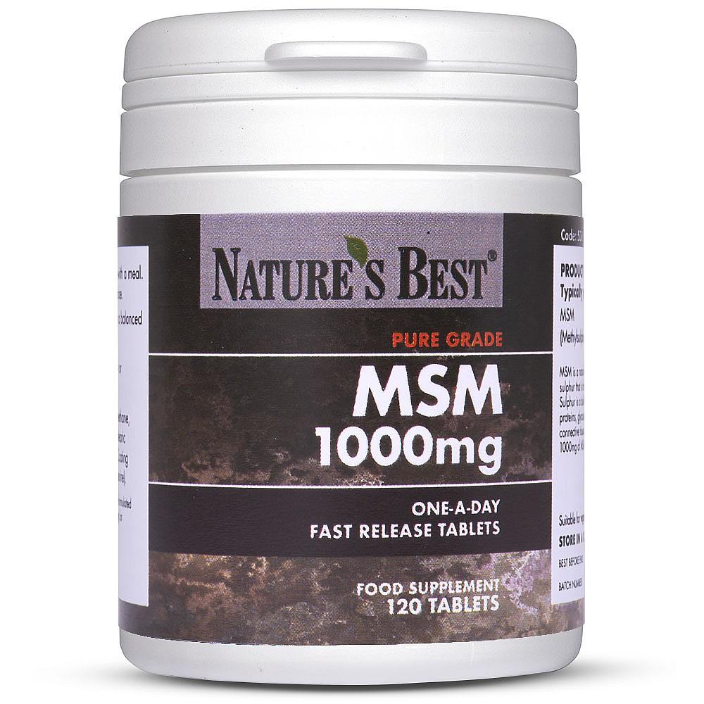 MSM Tablets - Sulphur Supplement | Nature's Best