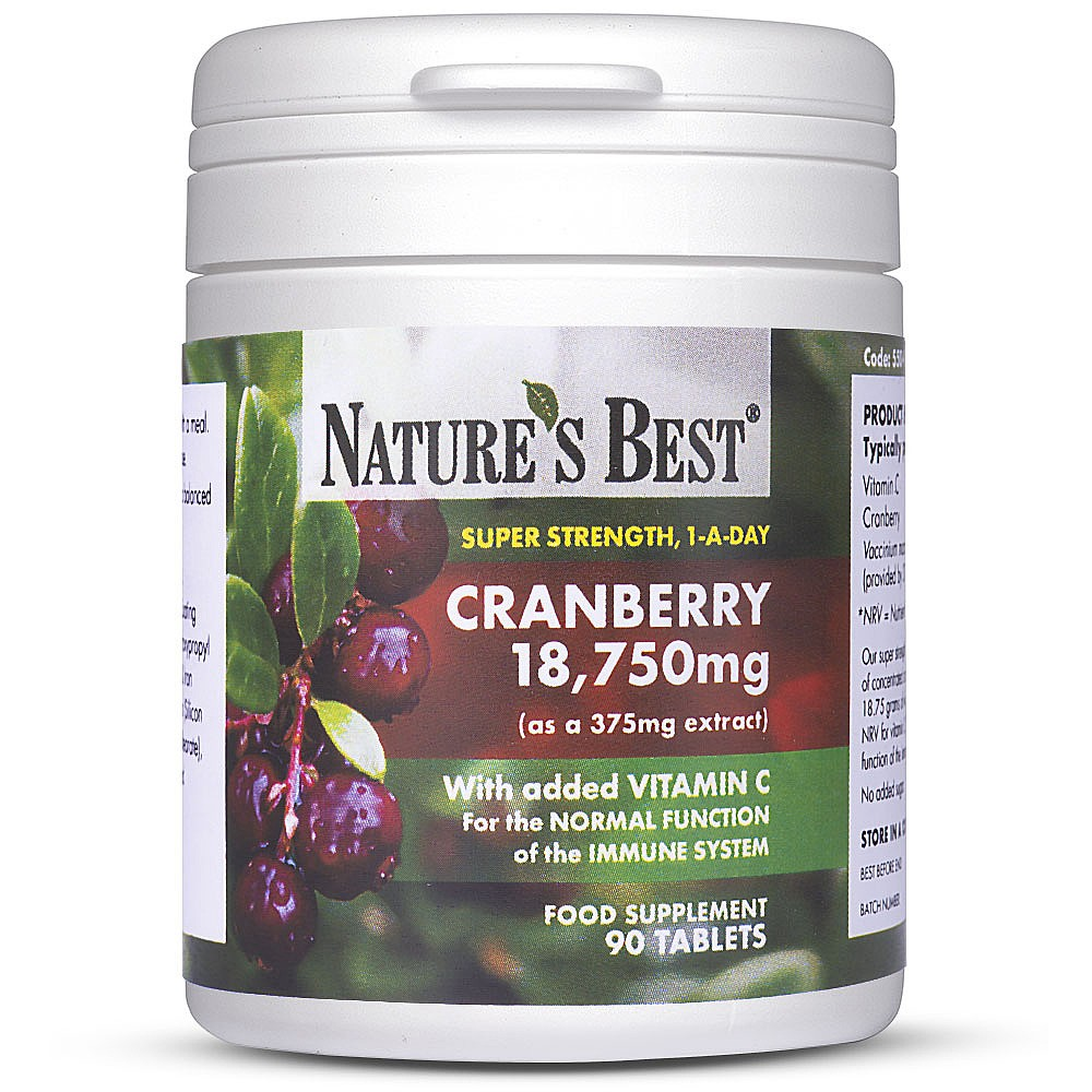 cranberry tablets | urinary tract health | nature's best