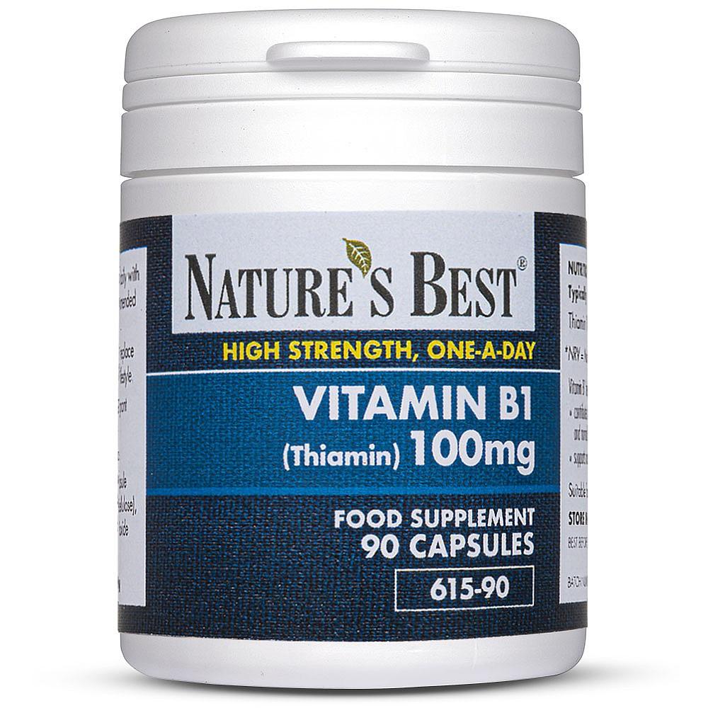 Vitamin B1 Thiamine 100mg Tablets Nature S Best