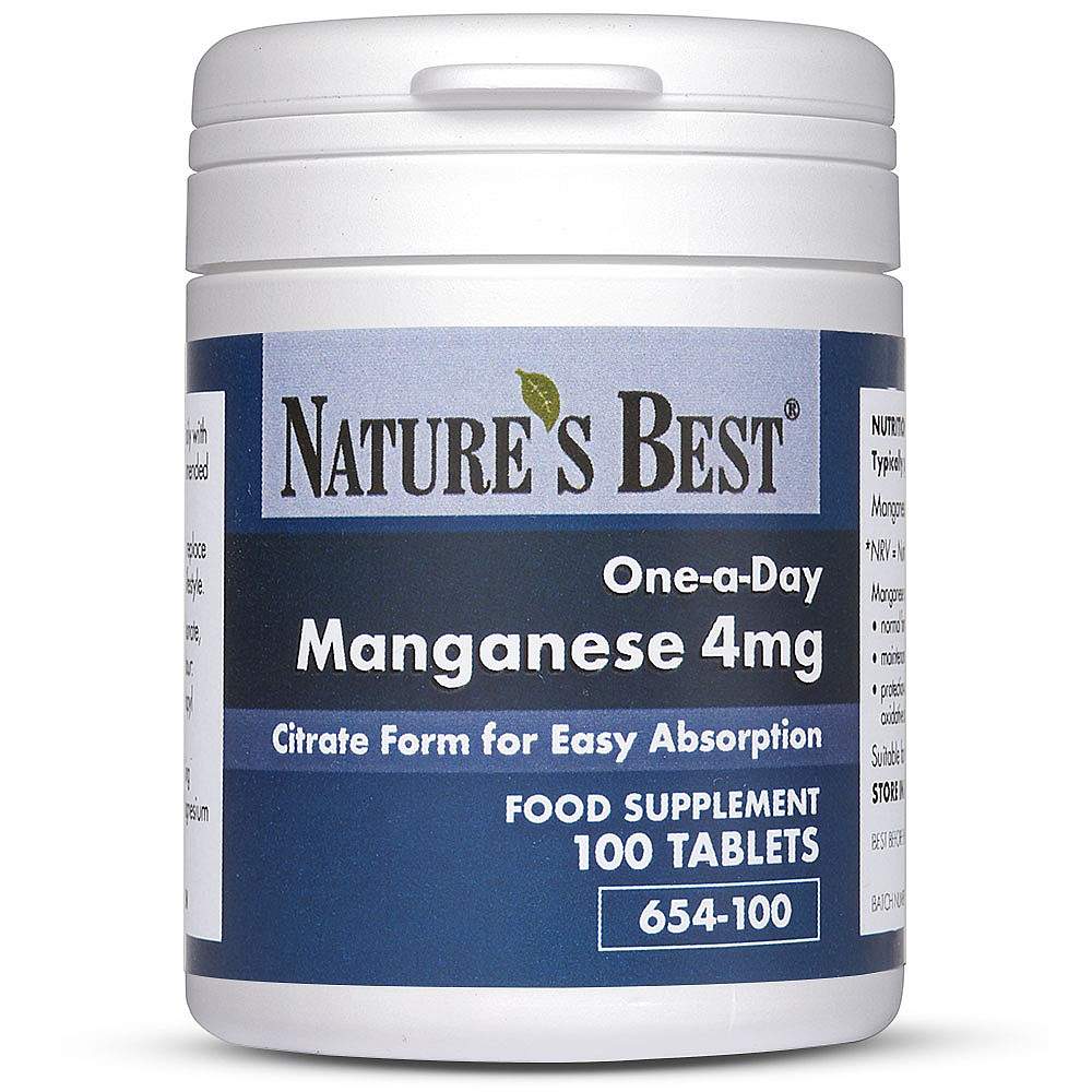 Manganese Tablets 5mg Easy Absorption Nature S Best