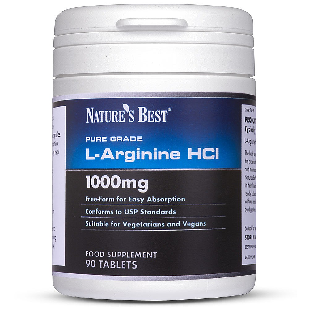 L Arginine Supplement | 1000mg High Strength Tablets | Nature's Best