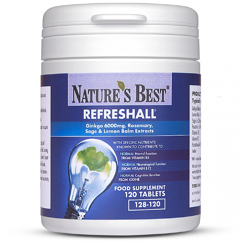 Health & Wellbeing|Food Supplements Refreshall®, For Normal Cognitive Function* 240 Tablets In 2 Pots