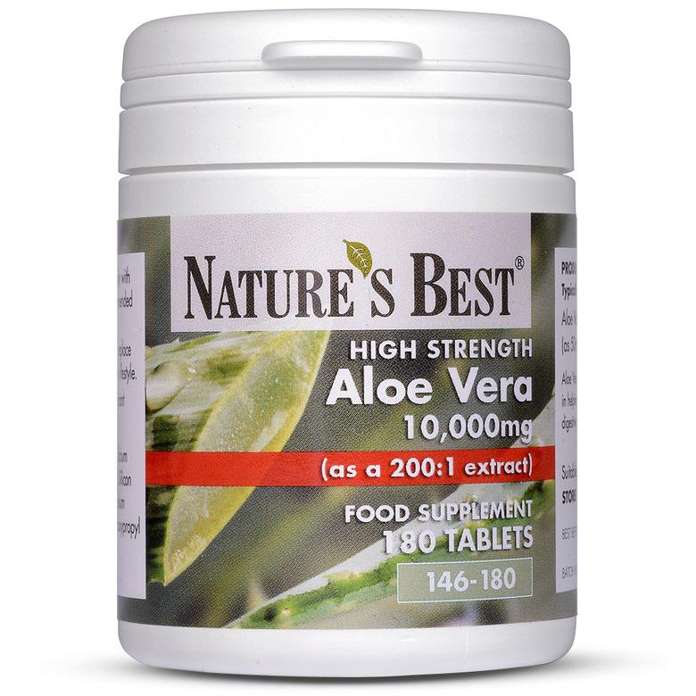 Aloe Vera Tablets 10,000Mg 180 Tablets