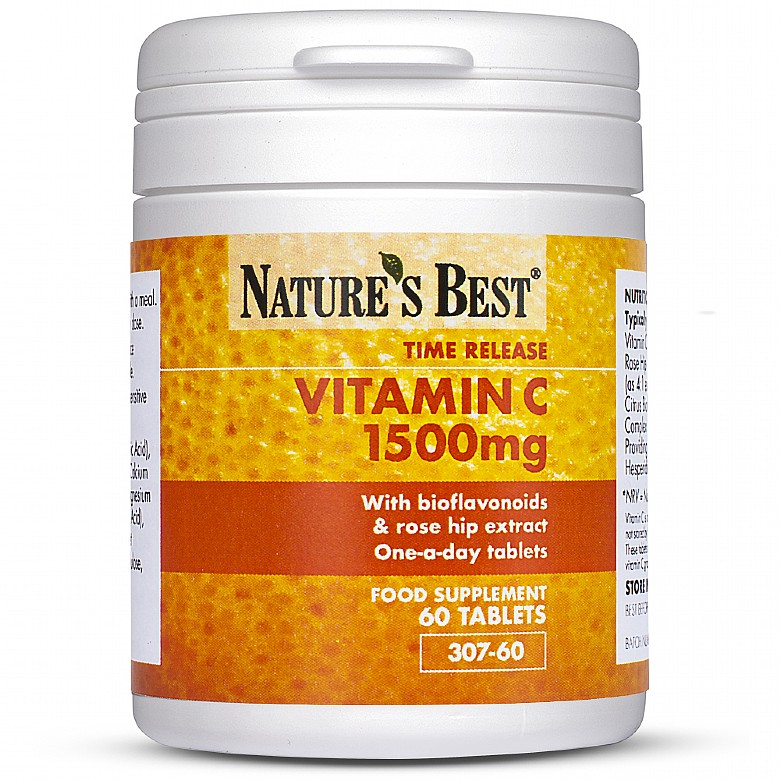 Vitamin C 1500Mg Time Release 180 Tablets In 3 Pots