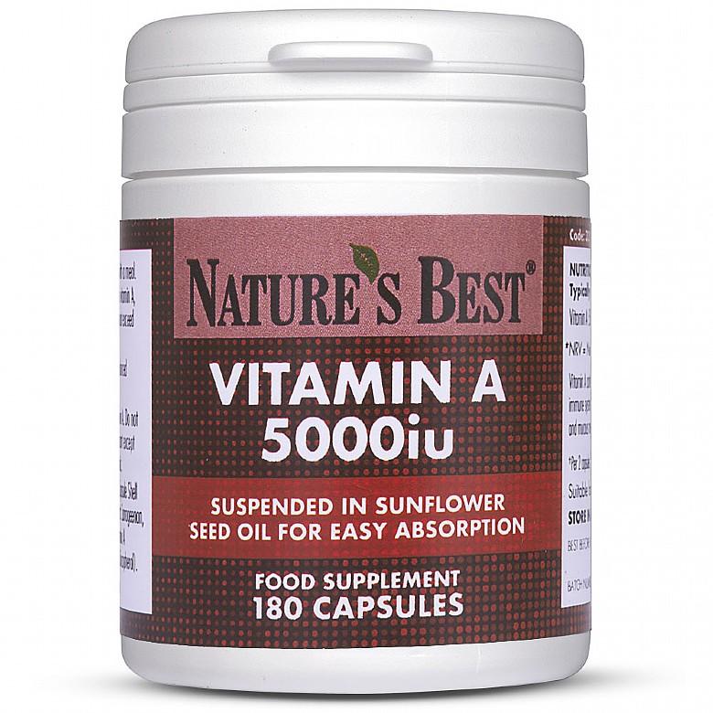 Herbal Remedies & Natural Medicines|Multivitamins & Minerals Vitamin A 5000Iu High Strength 180 Capsules