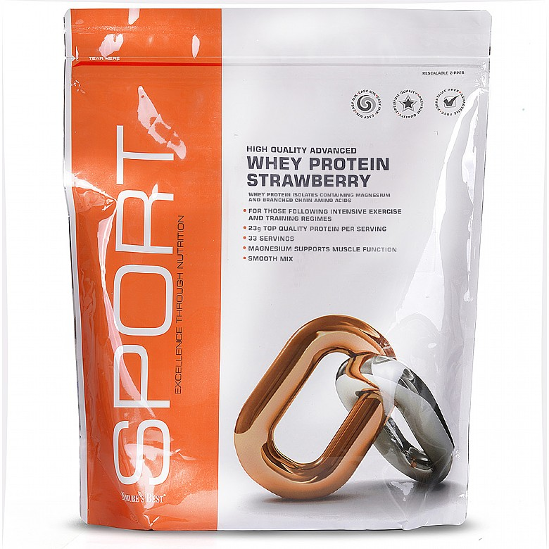 Nature's Best Whey Protein - Strawberry Flavour Flavour - Strawberry 1000g
