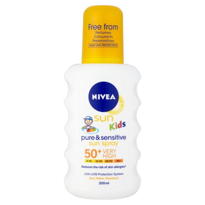 Nivea Sun Kids Pure & Sensitive Spray Spf50+ 200Ml