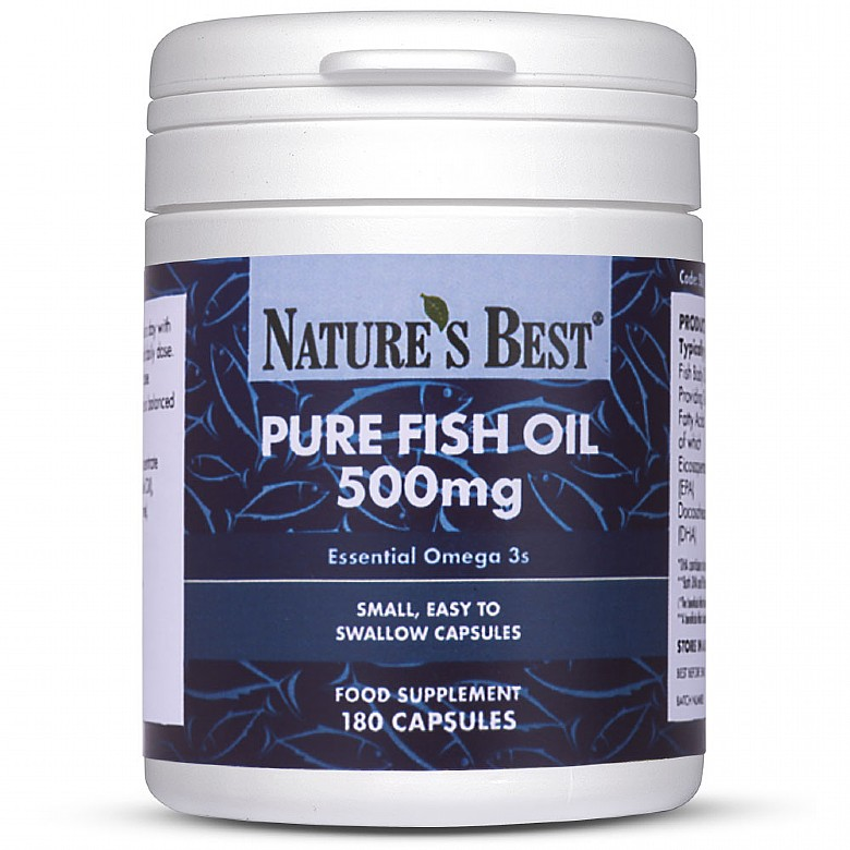 Food Supplements Pure Fish Oil 500Mg 180 Capsules