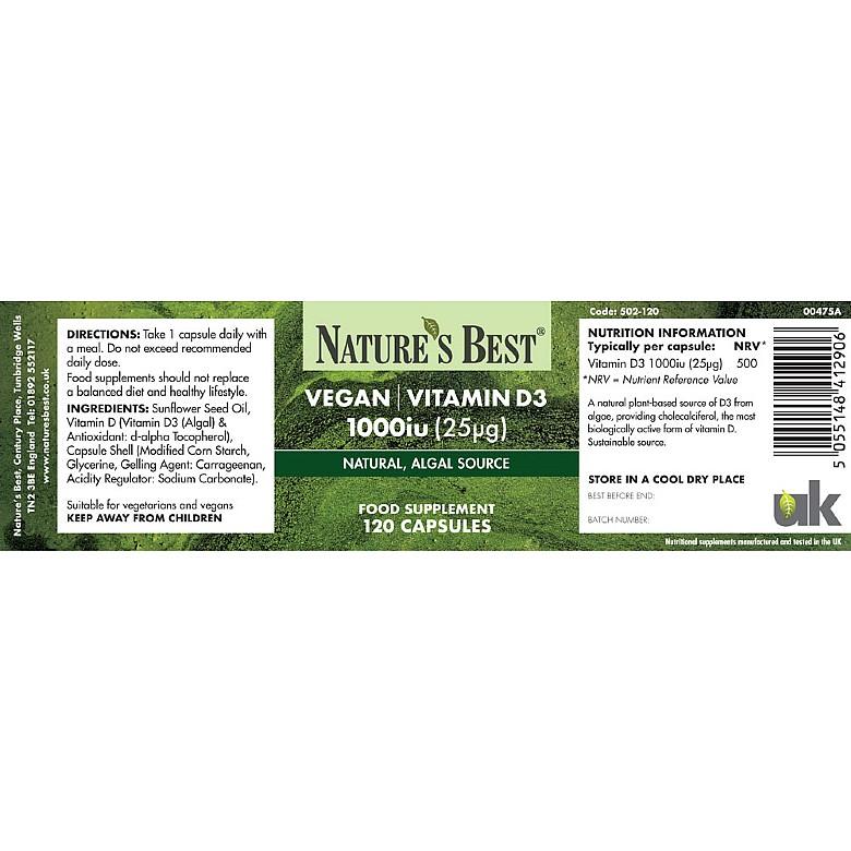 Best Vegan Vitamin D3 Supplement Cr Vitality