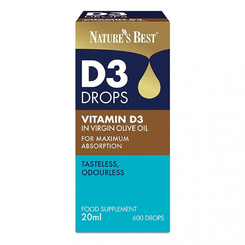 Vitamin D3 Drops 20Ml 20 Ml