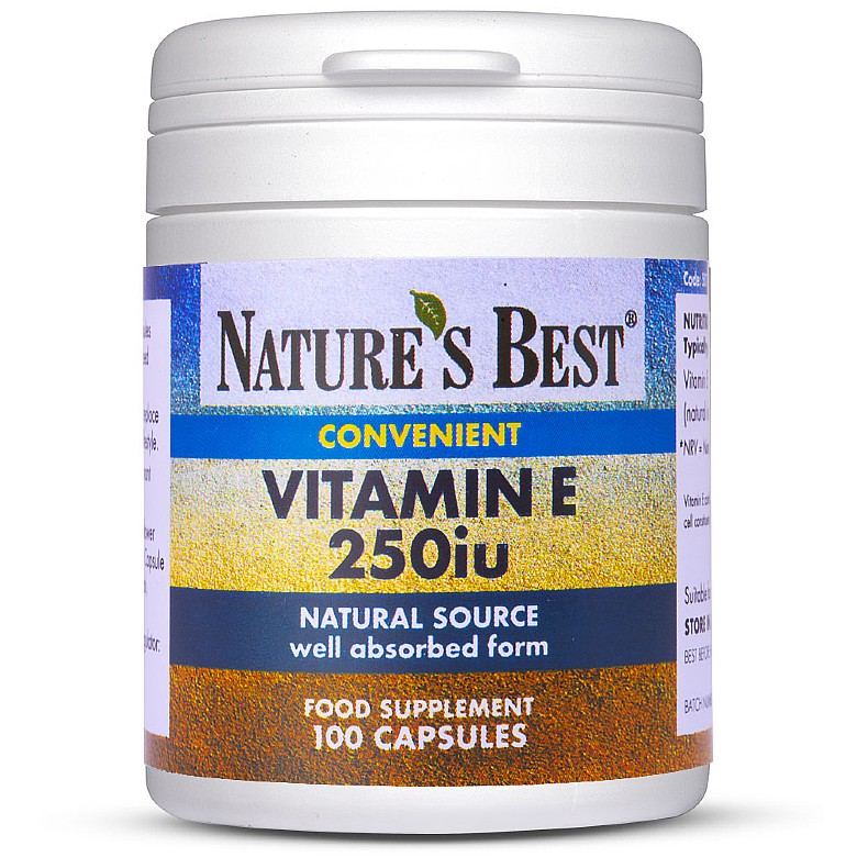 Vitamin E 250Iu 200 Capsules In 2 Pots