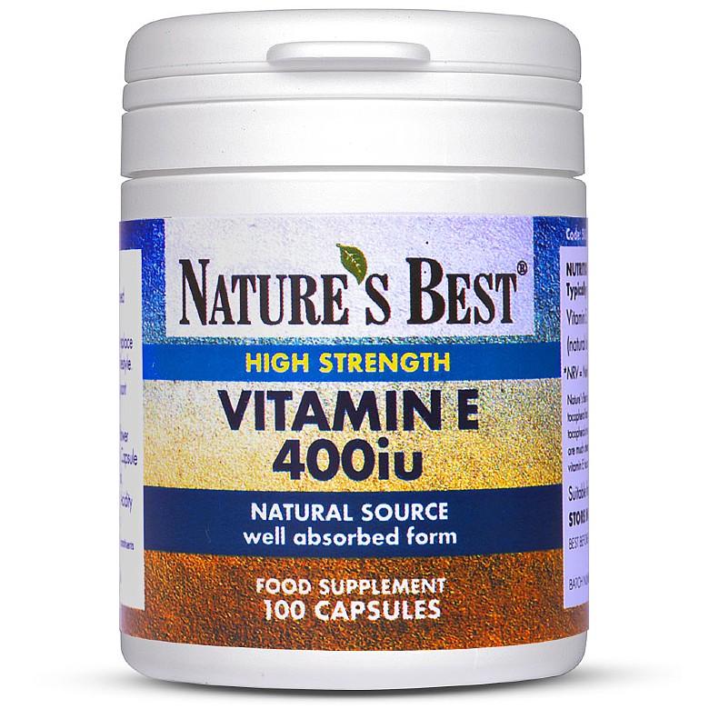 Vitamin E 400Iu (268Mg), Naturally Sourced 100 Capsules