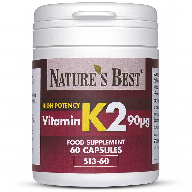 Vitamin K2 90µG, For Bone And Cardiovascular Support 120 Capsules In 2 Pots