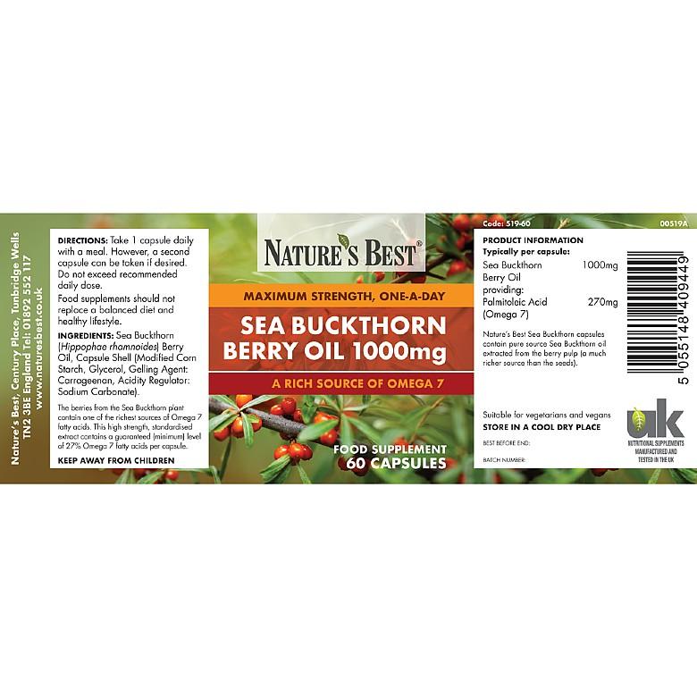 Sea Buckthorn Berry Oil 1000mg