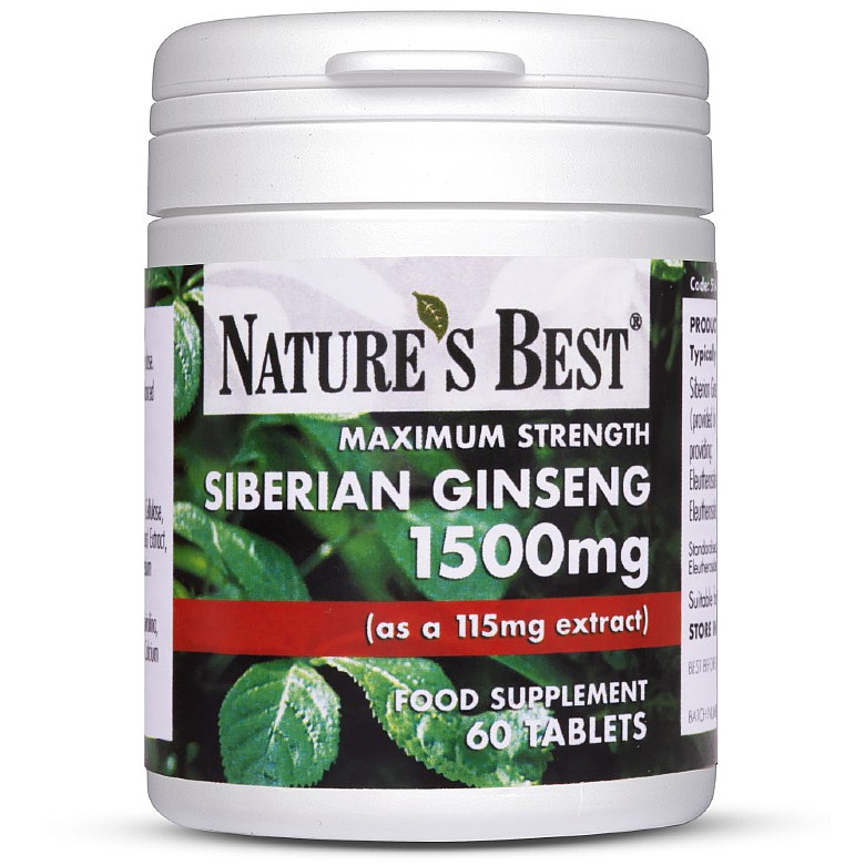 Siberian Ginseng 1500Mg 120 Tablets In 2 Pots