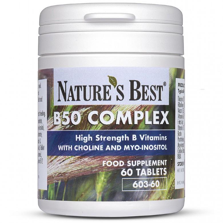 Vitamin B50 Complex 60 Tablets
