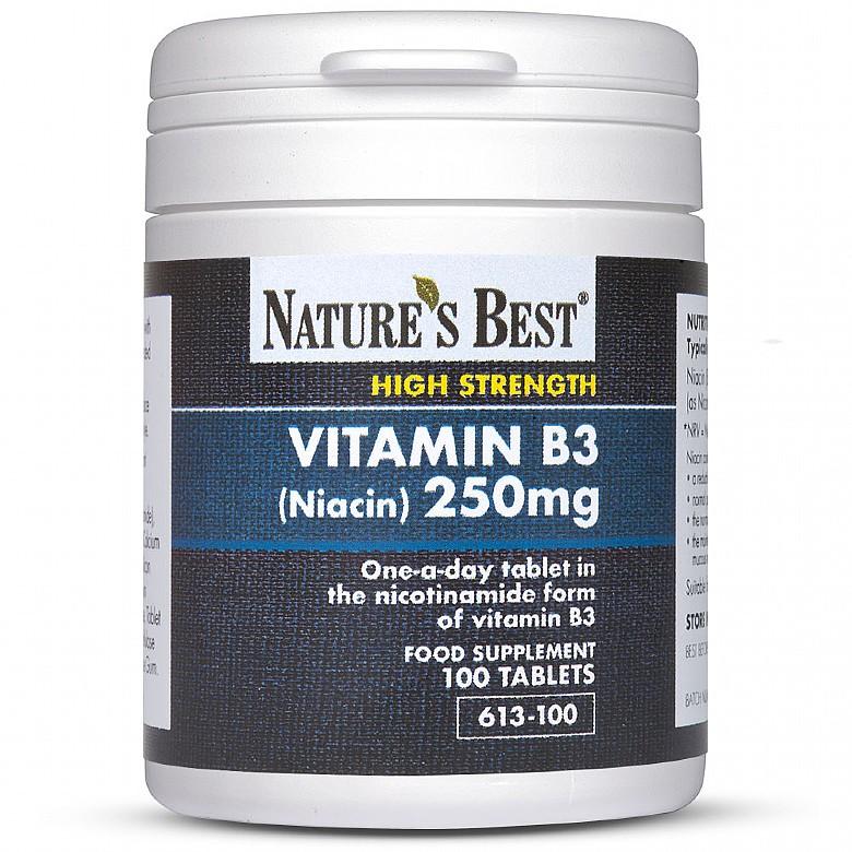 Vitamin B3 (Niacin) 250Mg 100 Tablets