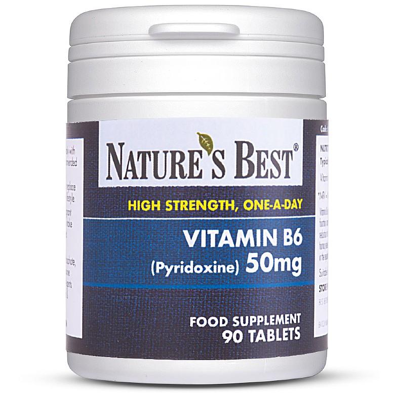 Vitamin B6 (Pyridoxine) 50Mg 180 Tablets