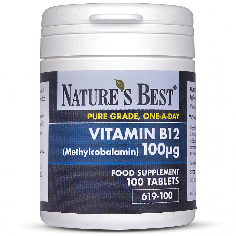 Vitamin B12 Methylcobalamin 100µG 100 Tablets
