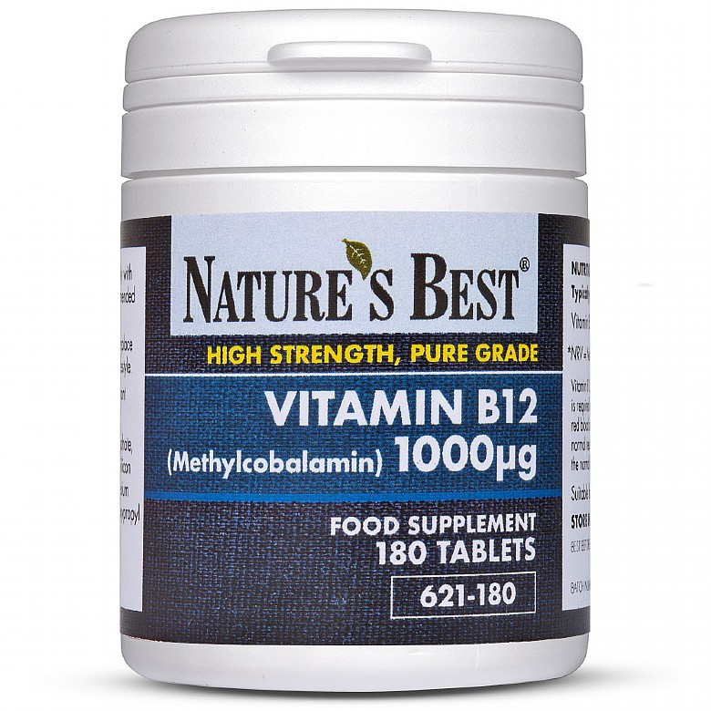 Vitamin B12 Tablets 1000µG, For The Reduction Of Tiredness & Fatigue 180 Tablets