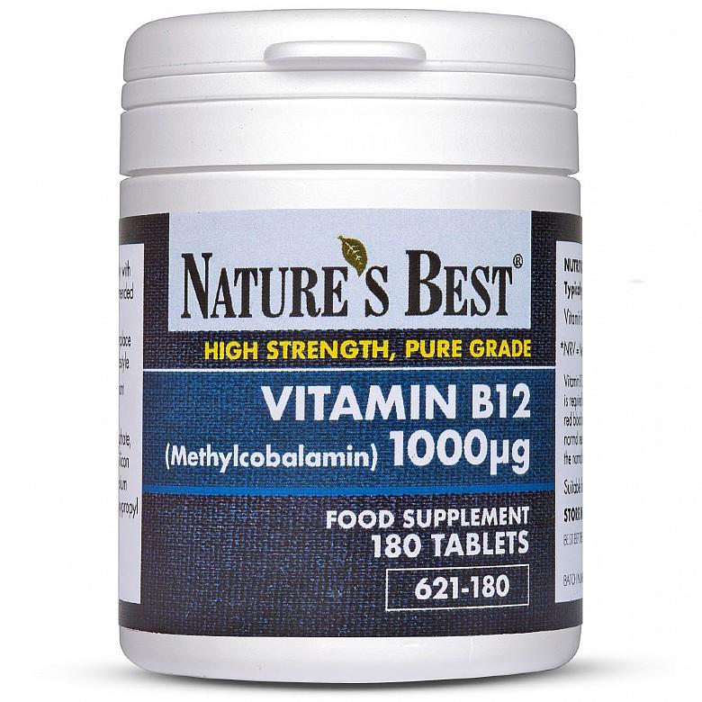 Vitamin B12 1000µG (Methylcobalamin) 360 Tablets In 2 Pots