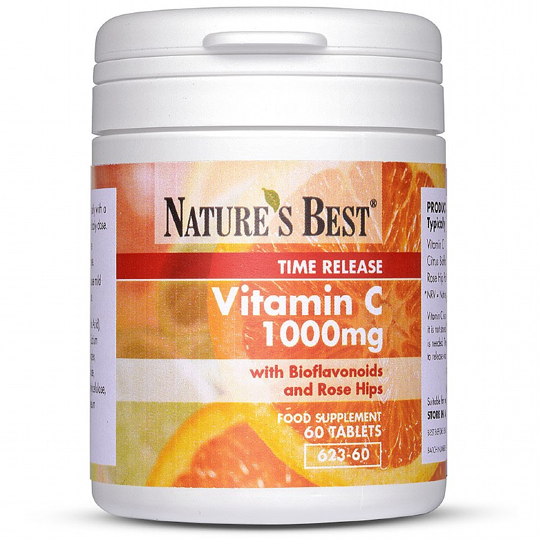 Vitamin C 1000Mg, With Bioflavonoids And Rosehips 180 Tablets
