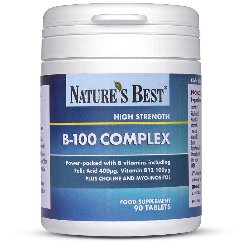 Vitamin B100 Complex 120 Tablets In 2 Pots