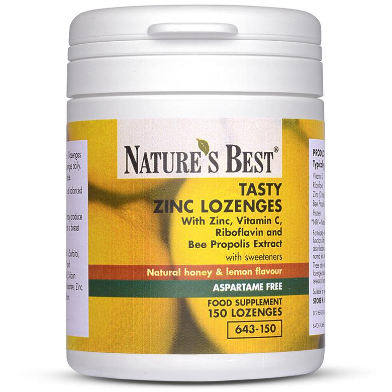 Multivitamins & Minerals Tasty Zinc Lozenges, With Zinc, Vitamin C, Riboflavin & Bee Propolis Extract 300  Lozenges In 2 Pots