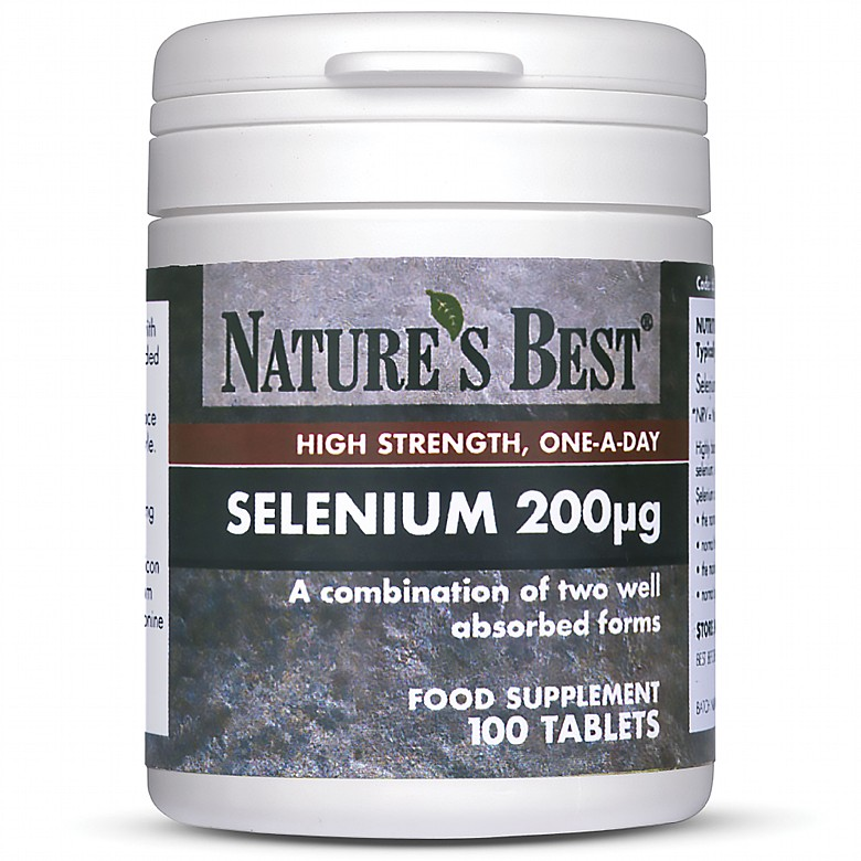 Selenium 200µG, High Strength Formula 100 Tablets