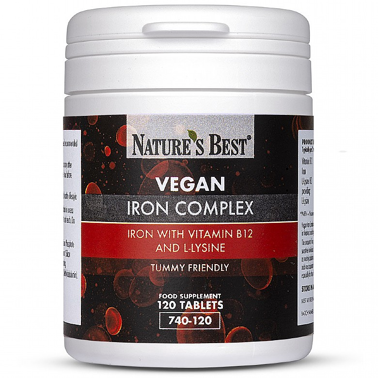 Vegan Iron Complex Tablets 120 Tablets
