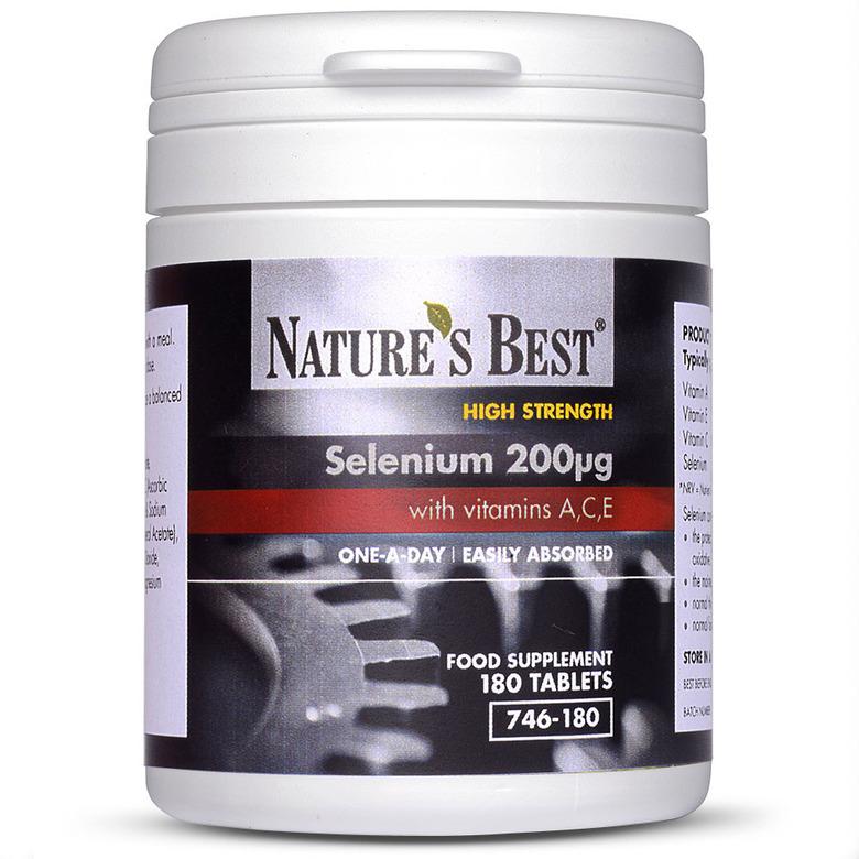 Selenium 200µG Plus A,C,E 180 Tablets