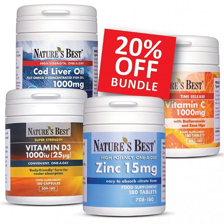 Health & Wellbeing Immunity Support Bundle, Plus Vitamin D Immunity Support Bundle, Plus Vitamin D