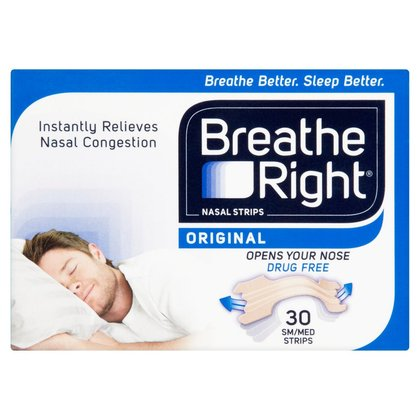 Breathe Right Tan Nasal Strips Small/Medium - 30