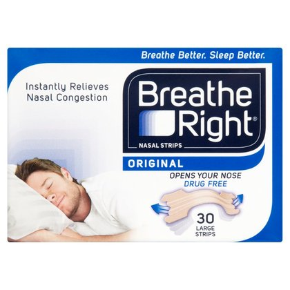 Breathe Right Tan Nasal Strips Large - 30
