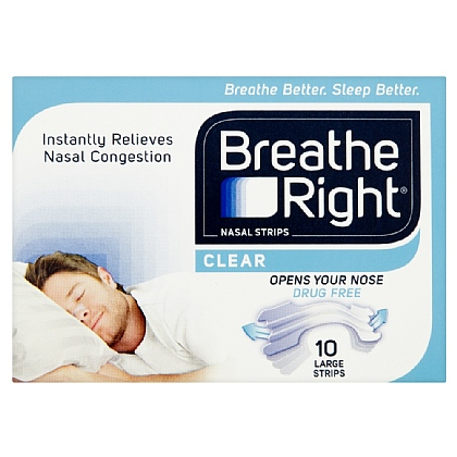Breathe Right Clear Nasal Strips Large - 10