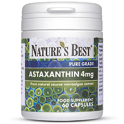 Astaxanthin 4mg, Natural Source Microalgae