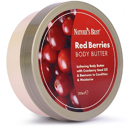 Body Butter Red Berries, Perfect Formula For All Skin Types