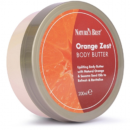Orange Zest Body Butter, Non-Greasy Formula & Easily Absorbed