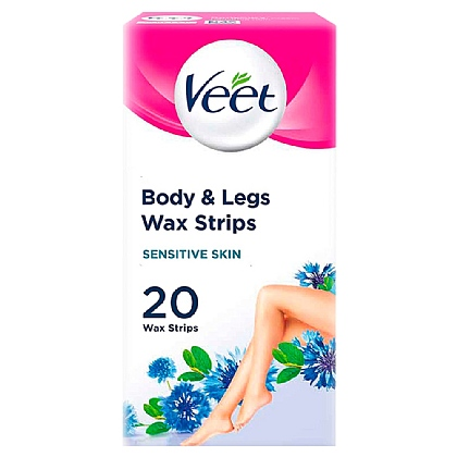 Veet 20 Wax Strips with Easy Grip - Sensitive Skin