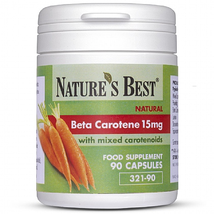 Beta Carotene 15 mg, Natural Source With Mixed Carotenoids