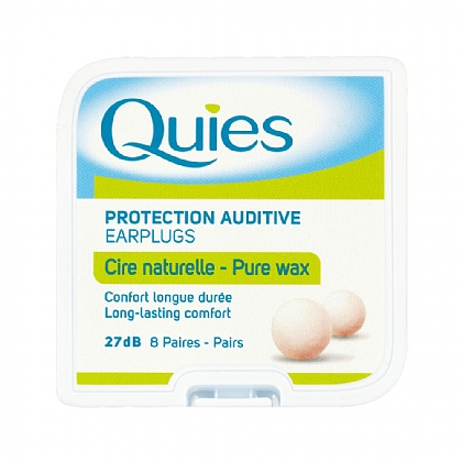 Quies Ear Plugs Wax 8 Pairs