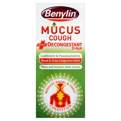 Benylin Mucus Cough Plus Decongestant Syrup - 100ml