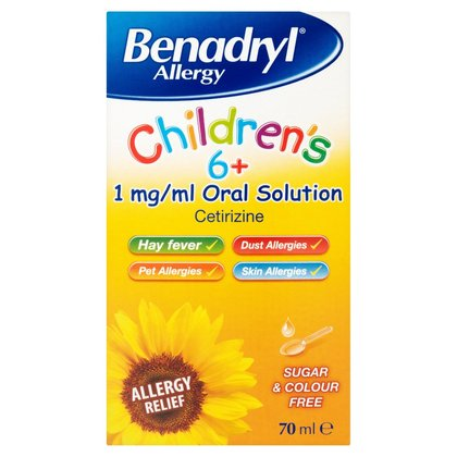 Benadryl Allergy Childrens 6+ Solution