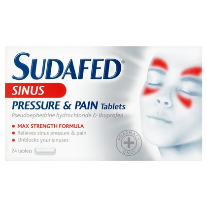 Sudafed Sinus Pressure & Pain Tablets - 24