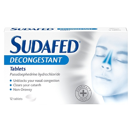 Sudafed Decongestant Tablets - 12