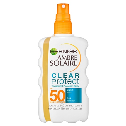 Garnier Ambre Solaire Clear Protect+ High SPF50 Transparent Body Protection Spray